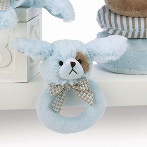 Blue Puppy Ring Rattle