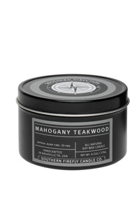 "A fabulous blend of mahogany, cedar wood and oak, with top notes of fresh lavender and geranium. This is a true scent of a ""man candle"".  It is subtle masculine scent that anyone would love."