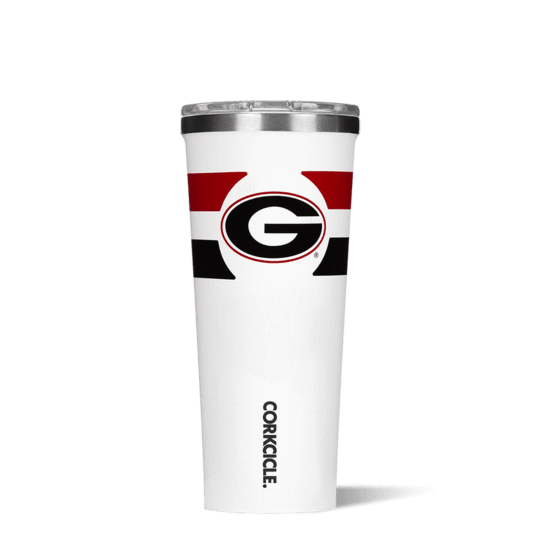 This 24 oz Tumbler features your favorite team logo.  Show your team spirit at the next tailgate with this game day line from Corkcicle.  Go Dawgs!