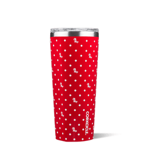 This 24 oz Polka Dot Tumbler features your favorite team logo.  Show your team spirit at the next tailgate with this game day line from Corkcicle.  Go Rebels!