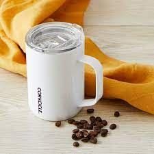 Corkcicle White Coffee Mug