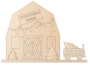 Christmas Barn Scene DIY. Support Santa's Anonymous. 20% will be donated when you purchase this product.