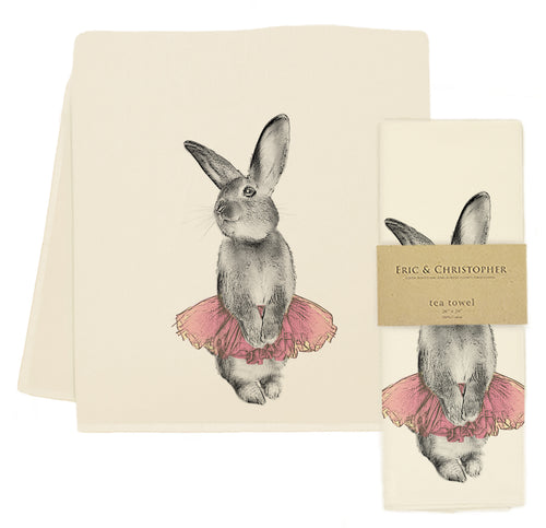 Eric & Christopher Bunny Tutu Tea Towel