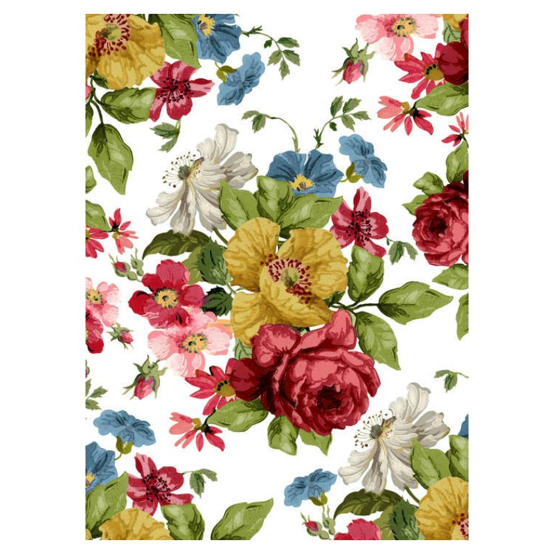 IOD Wall Flower Decor Transfer