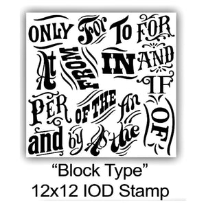 Block Type Stamp 12x12