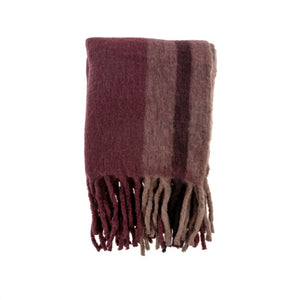 Whistler Woven Throw, Merlot