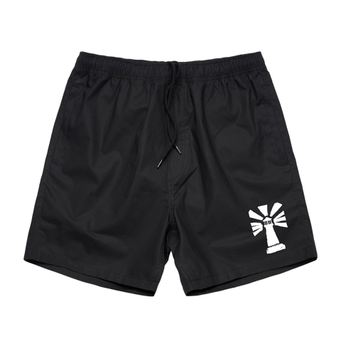 """Lighthouse"" Logo Beach Shorts"