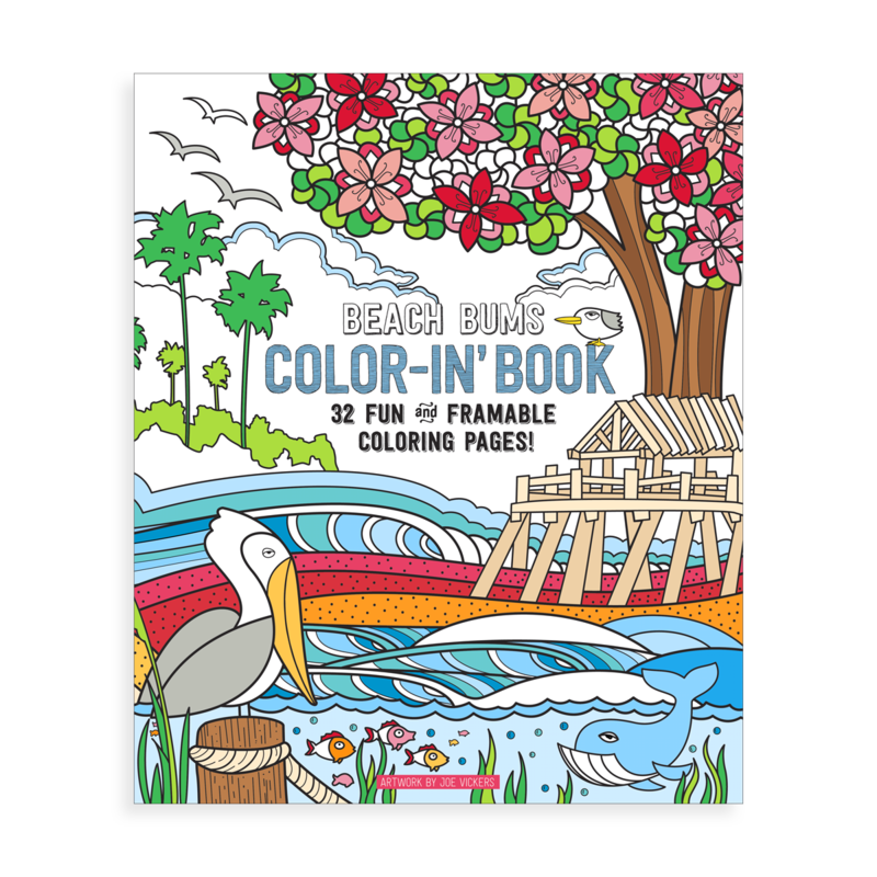 Beach Bums Coloring Book