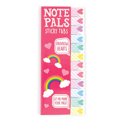 Note Pals Rainbow Hearts Sticky Tab