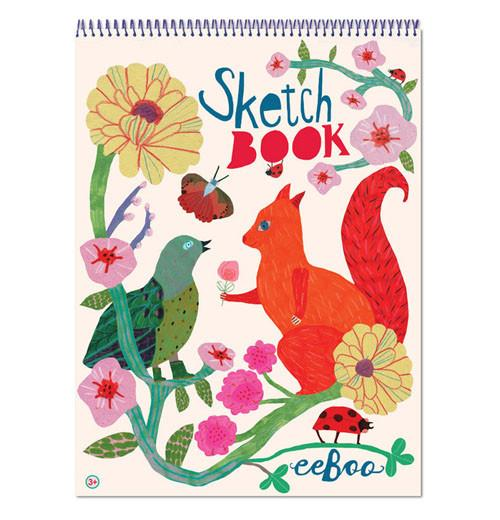 Eeboo Sketchbook Squirrel and Bird