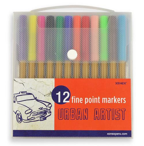 12 Fine Point Markers Urban Artist