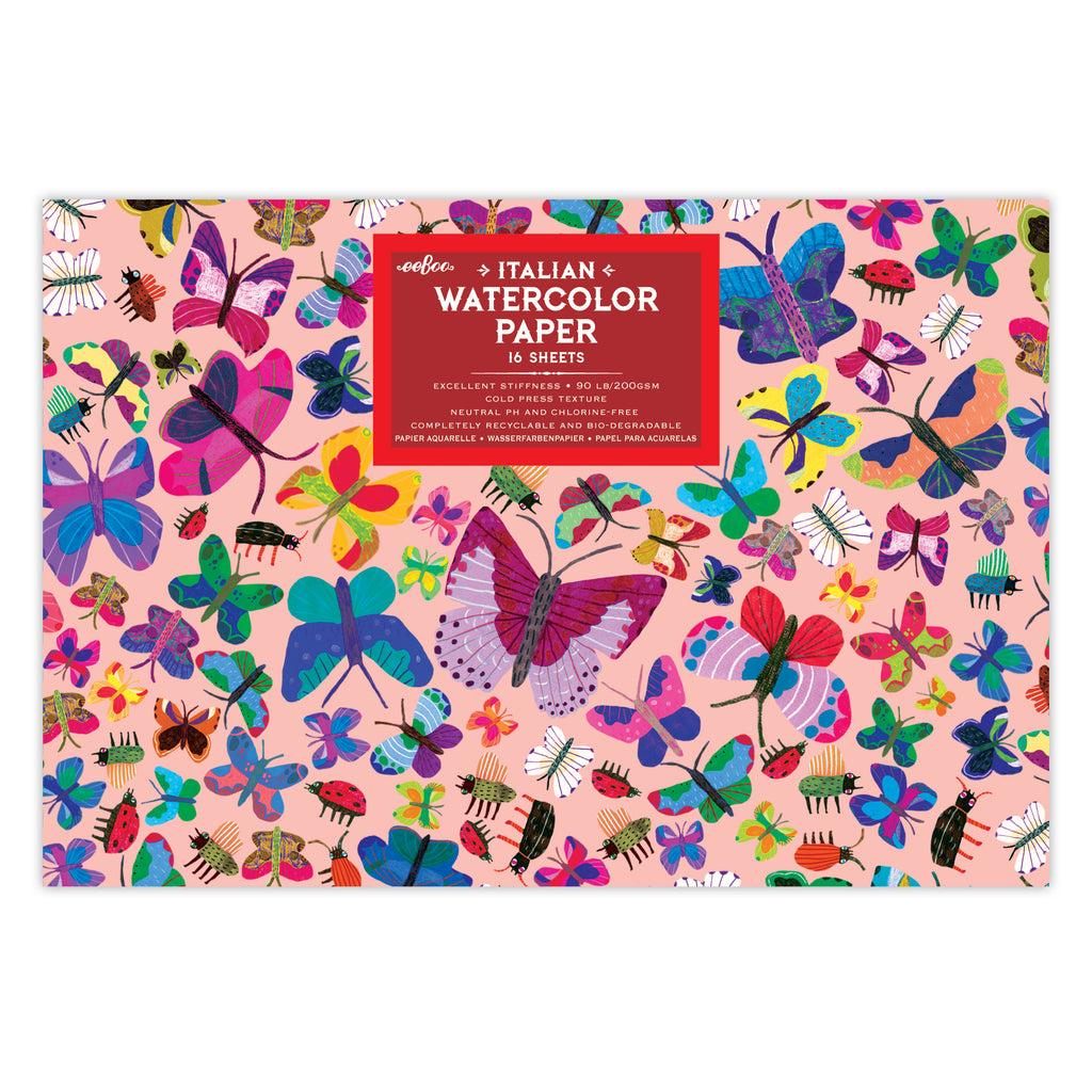 Eeboo Italian Watercolor Pad Butterflies