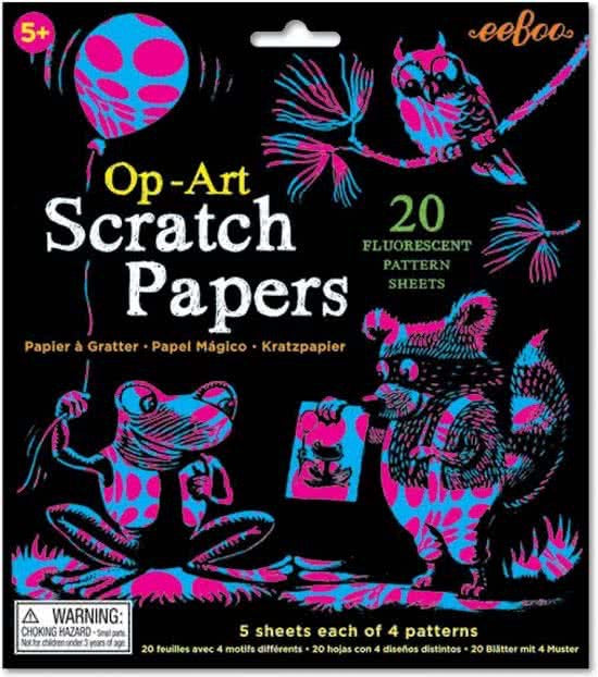 Scratch Papers op art