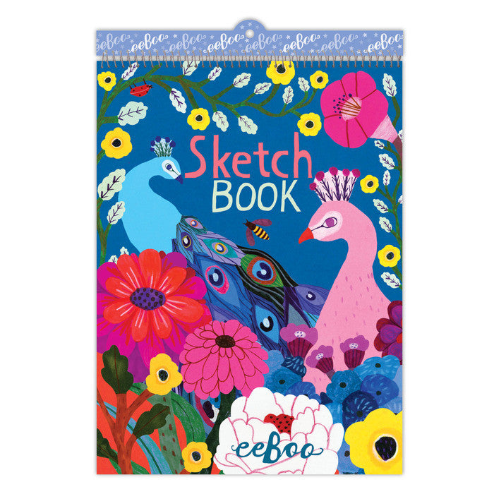 Eeboo Sketchbook Peacock