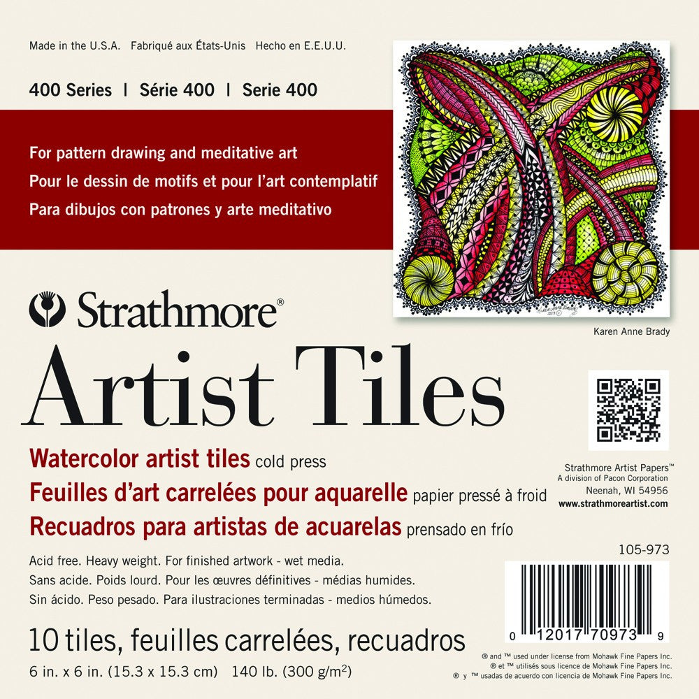 Strathmore Artist Tiles Pack 4x4 Watercolor