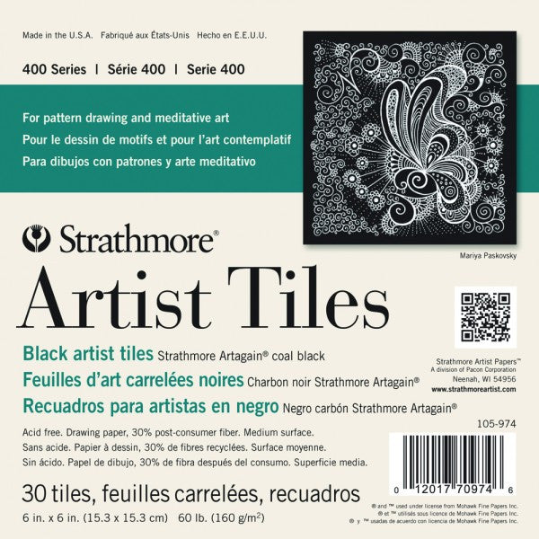 Strathmore Artist Tiles Pack 4x4 Black