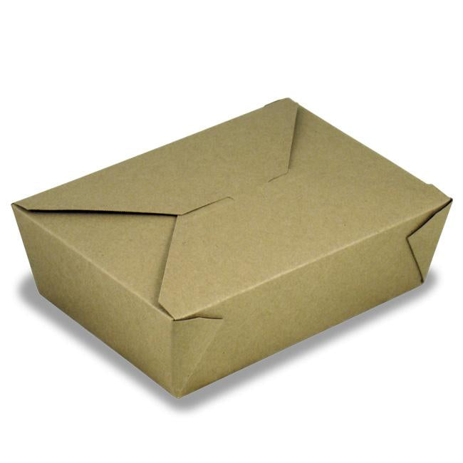 ECOSOURCE Natural Kraft Take Out Box, The Box # 8, 300 Count - TheLotusGroup - Brand You Can Trust