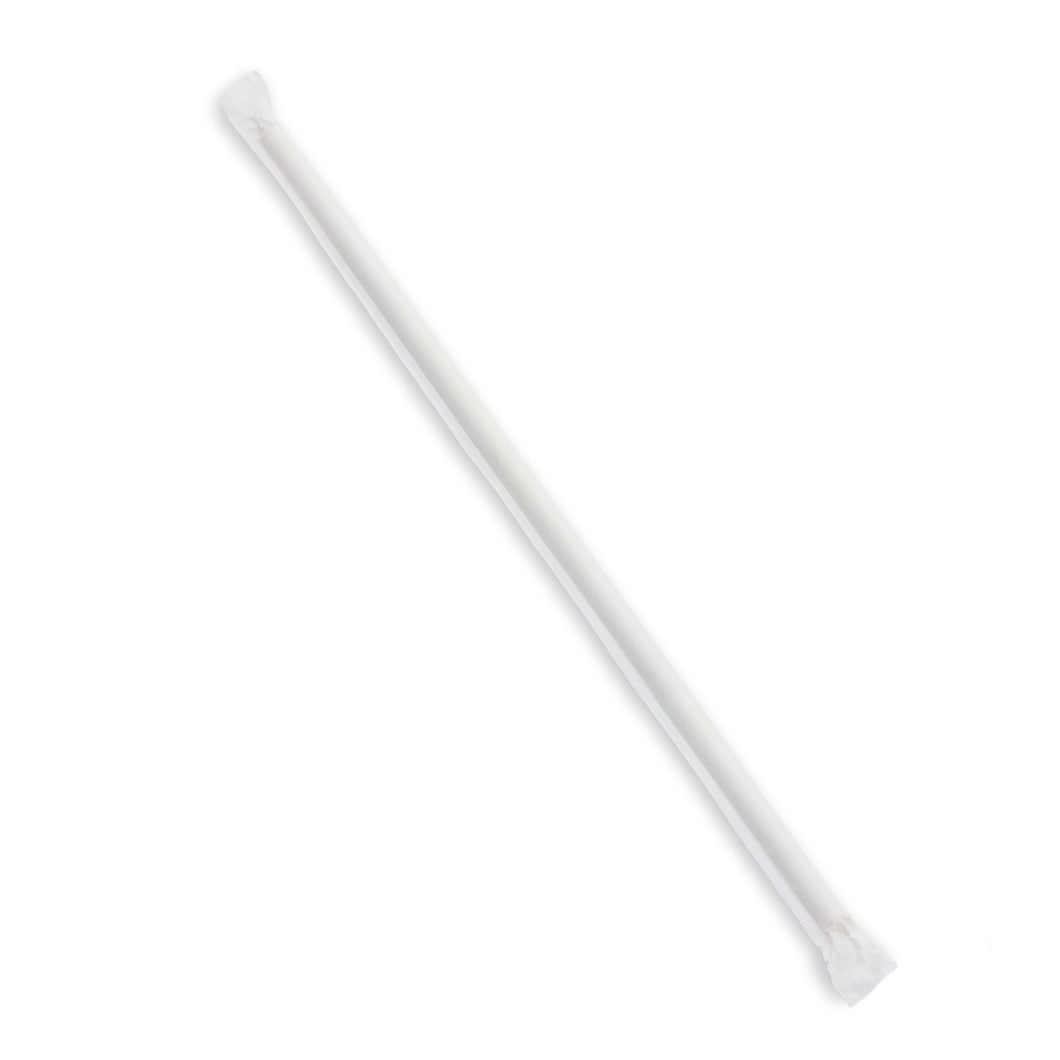 "10"" Paper Jumbo Straw, Indv. Wrapped, 3200 Count - TheLotusGroup - Brand You Can Trust"