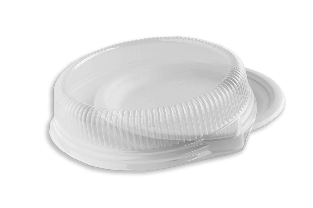 Ecosource PETE Dome Lid for Stalkmarket 9-inch Sugarcane Plates, 200-Count Case - TheLotusGroup - Brand You Can Trust
