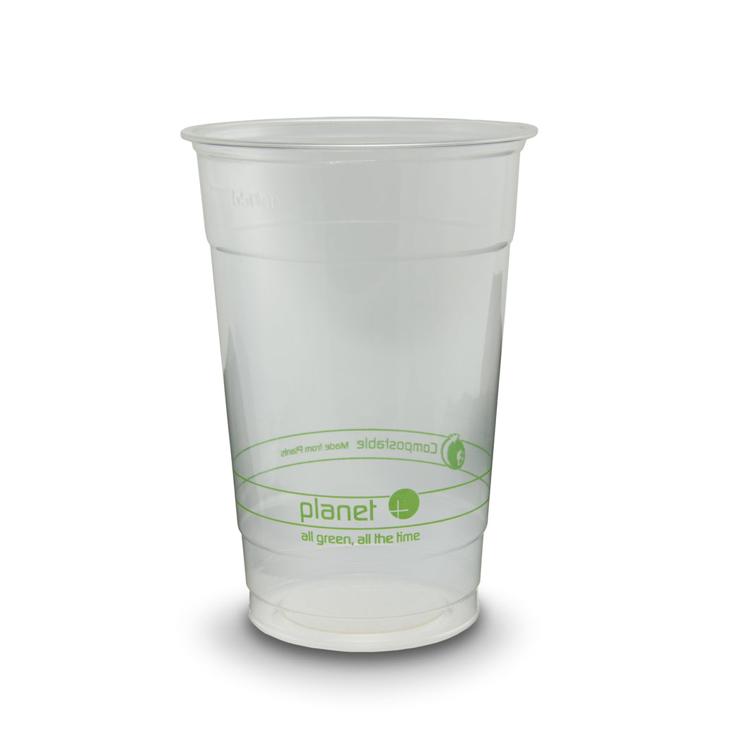 Planet+ 100% Compostable PLA Clear Cold Cup, 20-Ounce, 1000-Count Case - TheLotusGroup - Brand You Can Trust