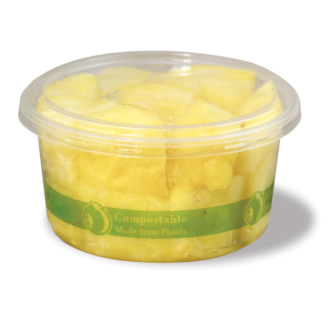 Jaya 100% Compostable Clear PLA Round Deli Container, 12-ounce, 600-count case - TheLotusGroup - Brand You Can Trust