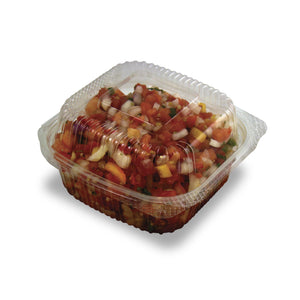 Jaya 6x6 PLA Hinged Container -240 Count - TheLotusGroup - Brand You Can Trust