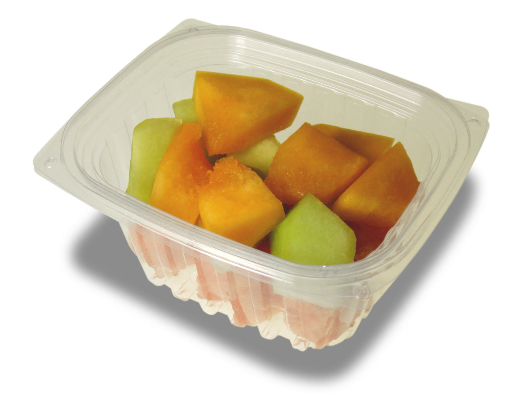 Jaya 100% Compostable Clear PLA Hinged Rectangular Deli Container, 16-ounce, 300-set case - TheLotusGroup - Brand You Can Trust