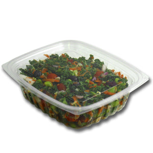 Jaya 100% Compostable Clear PLA Hinged Rectangular Deli Container, 24-ounce, 200-set case - TheLotusGroup - Brand You Can Trust
