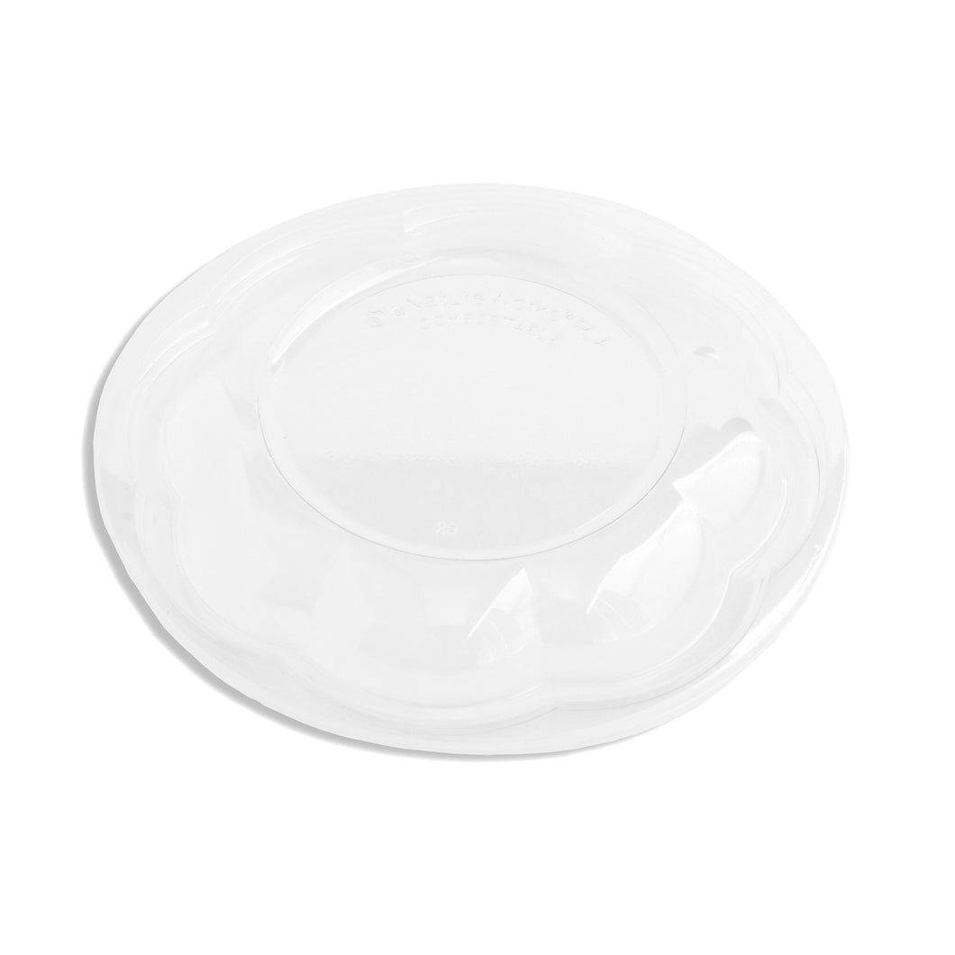 Jaya 100% Compostable Clear PLA Salad Bowl Lids, fits 24/32/48oz, 300-count case - TheLotusGroup - Brand You Can Trust
