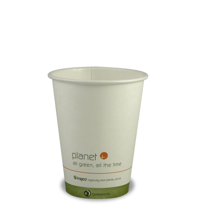 Planet + 100% Compostable PLA Laminated Hot Cup, 12-Ounce, 1000-Count Case - TheLotusGroup - Brand You Can Trust