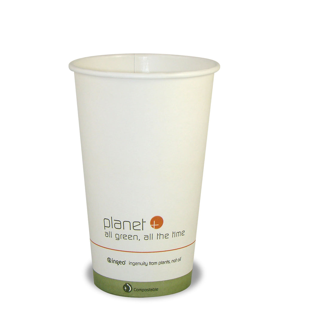 Planet + 100% Compostable PLA Laminated Hot Cup, 16-Ounce, 1000-Count Case - TheLotusGroup - Brand You Can Trust