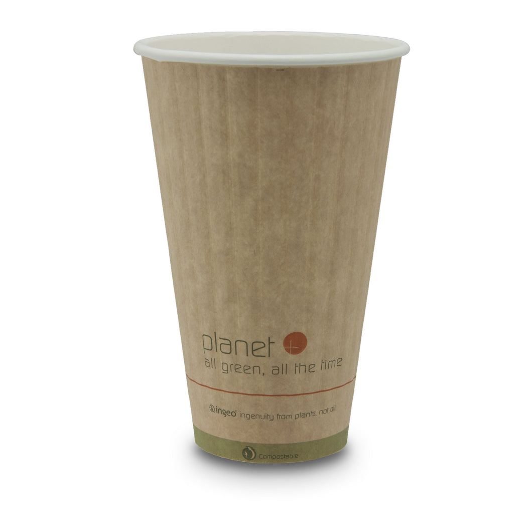 Planet + 100% Compostable PLA Laminated Double Wall Insulated Hot Cup, 20-Ounce, 600-Count Case - TheLotusGroup - Brand You Can Trust