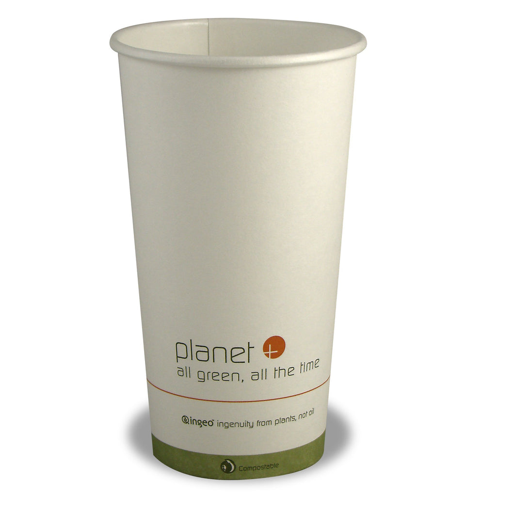 Planet+ 100% Compostable PLA Laminated Hot Cup, 20-ounce, 500-count case - TheLotusGroup - Brand You Can Trust