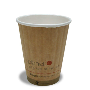 Planet + 100% Compostable PLA Laminated Double Wall Insulated Hot Cup, 8-Ounce, 1000-Count Case - TheLotusGroup - Brand You Can Trust