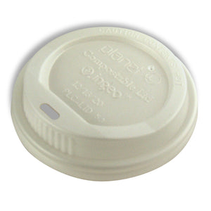 Planet + 100% Compostable PLA Hot Cup Lid,1000-Count Case - TheLotusGroup - Brand You Can Trust