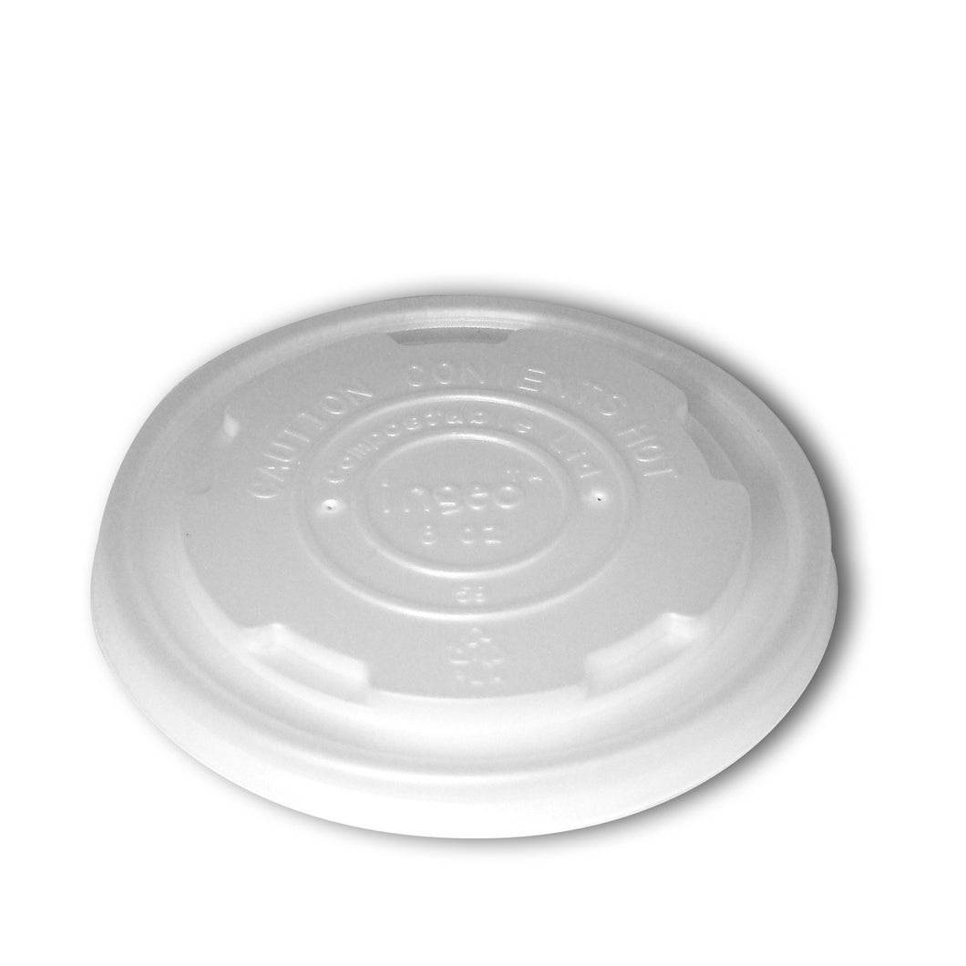Planet + 100% Compostable PLA Lid for PLA Laminated Food Containers, 8-Ounce, 1000-Count Case - TheLotusGroup - Brand You Can Trust