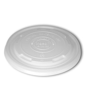 Planet + 100% Compostable PLA Lid for PLA Laminated Food Containers, 12/16/32-Ounce, 500-Count Case - TheLotusGroup - Brand You Can Trust