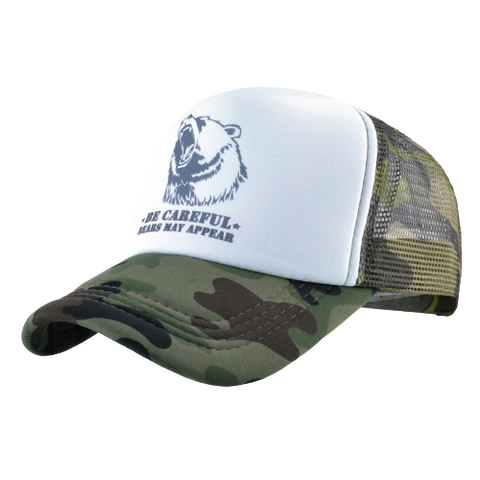 Casquette Ours Trucker | Militaire