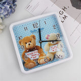 Horloge Ours <br> Soyeuse Peluche