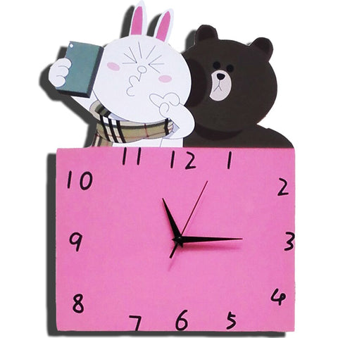 Horloge Ours et Lapin