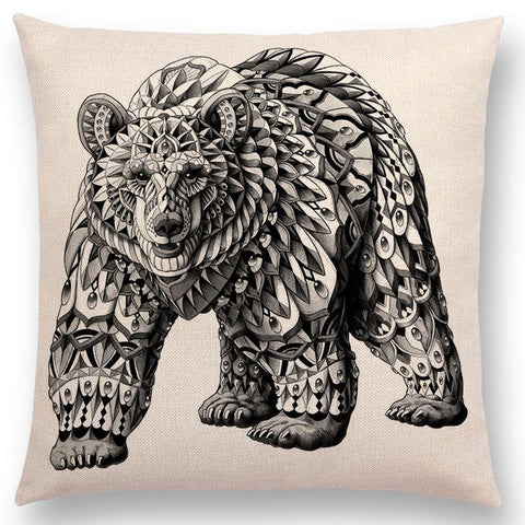 Coussin Animal Totem Ours