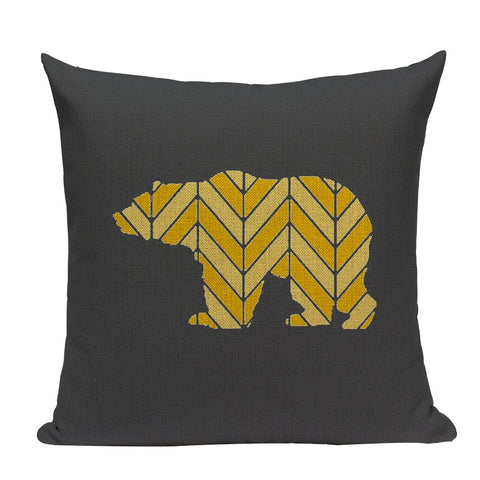 Coussin Ours Jaune
