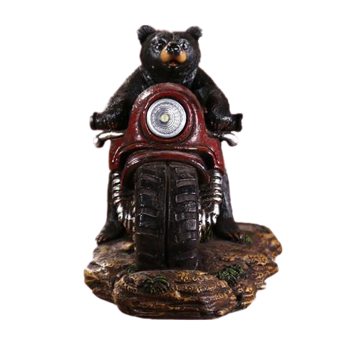 Figurine Ours Moto