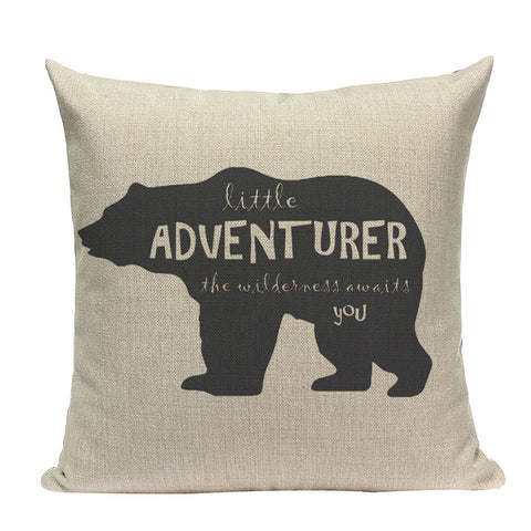 Coussin Ours Aventure