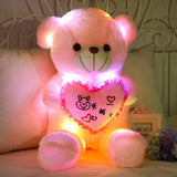 Peluche Ours <br> Coeur Lumineux