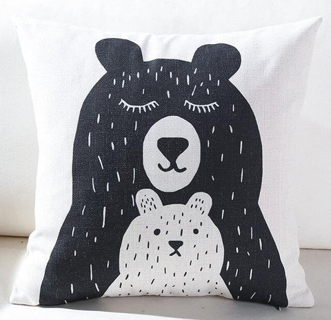 Coussin Maman Ours