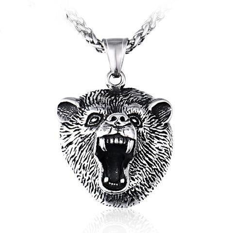 Collier Ours Homme