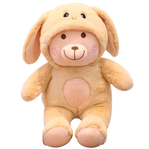 Peluche Ours Capuche Lapin | Ours-Shop.fr