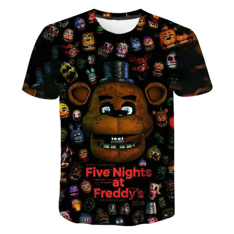 T-Shirt Five Night at Freddy's | Ours-Shop.fr