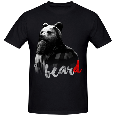 T-Shirt Ours avec Barbe | Ours-Shop.fr